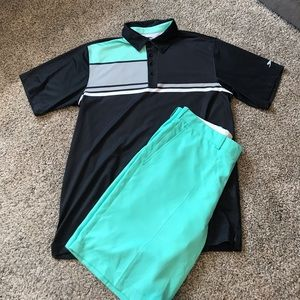 Men's Golf Outfit Size 34 Shorts and L Shirt